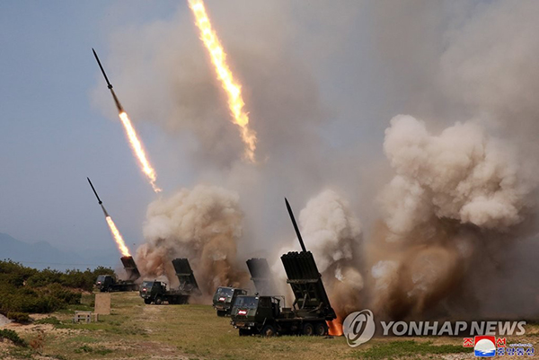 N. Korea says it tested multiple rocket launchers, tactical guided weapons