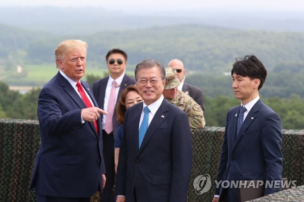 Trump thanks Moon for hosting him in S. Korea, says meeting with Kim was 'great'