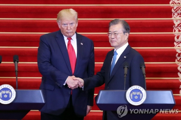 Moon, Trump reaffirm commitment to alliance, N.K. denuclearization: State Dept