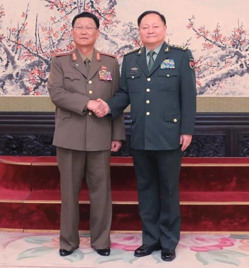 N. Korea, China demonstrate military ties in high-level talks
