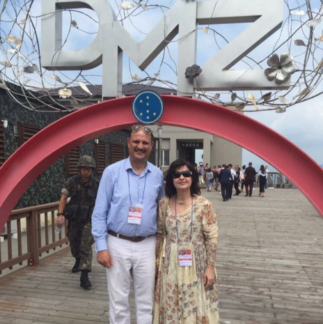 Ambassador and Mrs Amal Nosseir of Egypt visiting DMZ in August 2018