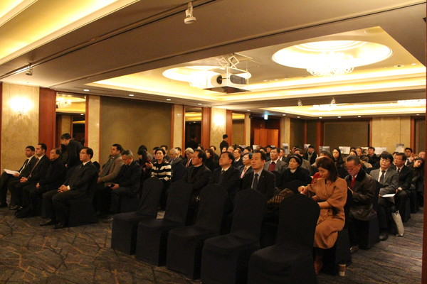 Attendees at the meeting listen a speech made by Ramzi Teymurov of Azerbaijan (at left unseen).