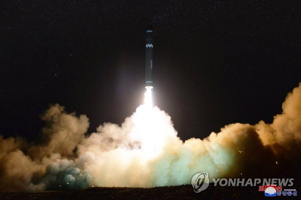 North Korea test-fires an ICBM on April 21, 2018. This type of provocation continues to discourage the U.S. from wanting to help North Korea improve the livelihood of the people in the North.