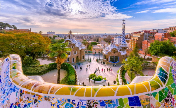 Gaudi's architecture in Barcelona, Spain.