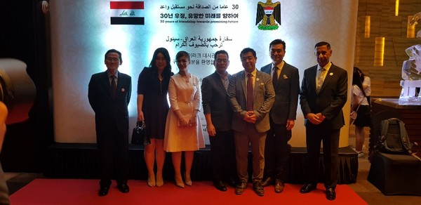 Kim Ji-young poses with Iraqi Ambassador and his wife. Daol Global is currently focusing on  expanding its reach outside of Korea.