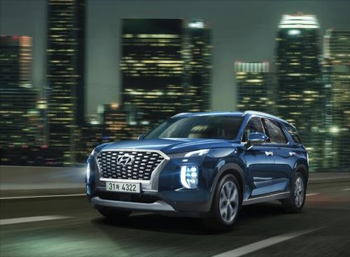 This photo provided by Hyundai Motor Co. shows its flagship Palisade SUV. (PHOTO NOT FOR SALE) (Yonhap)