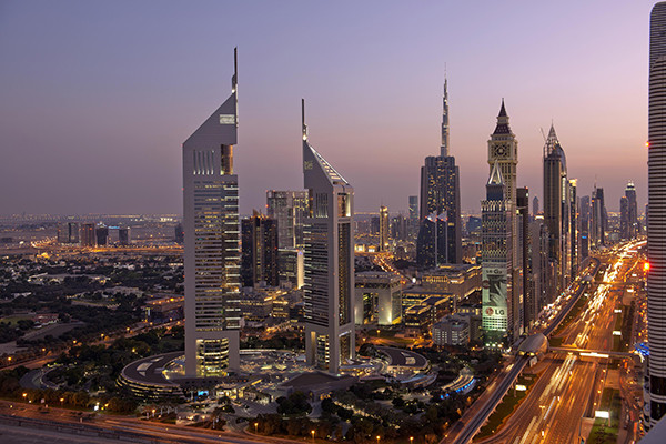 Dubai, the largest city in the United Arab Emirates