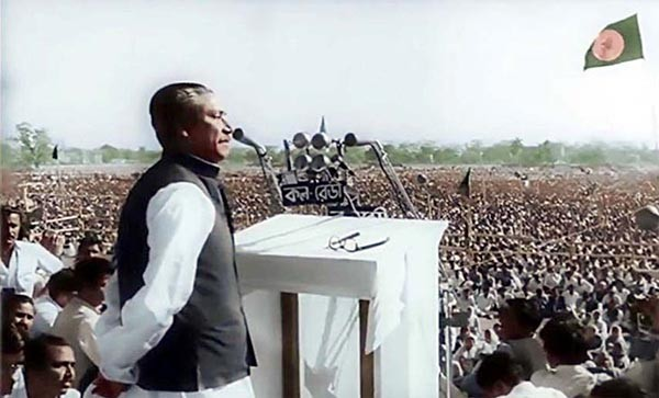 """The struggle this time is for our emancipation. The struggle this time is for our independence""- Bangabandhu Sheikh Mujibur Rahman delivering his historic 7th March Speech at a huge public rally at Race Course Ground (Suhrawardy Udyan, March 7, 1971)."