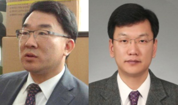 CEOs Jeon Hong Ryul (left) and Sung Ki-hong