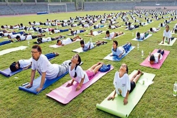 Promoting Yoga has been a priority for the Narendra Modi government. Photo: Hindustan Times.