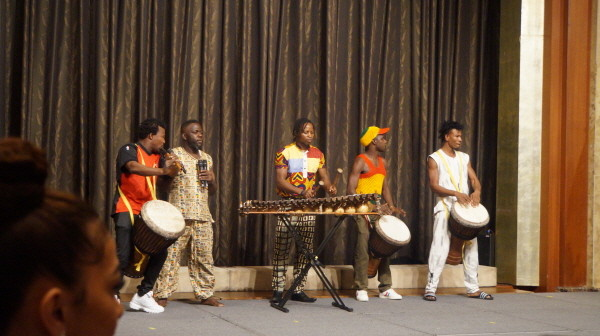 10. Cote d'Ivoire students present traitional performance of their country.