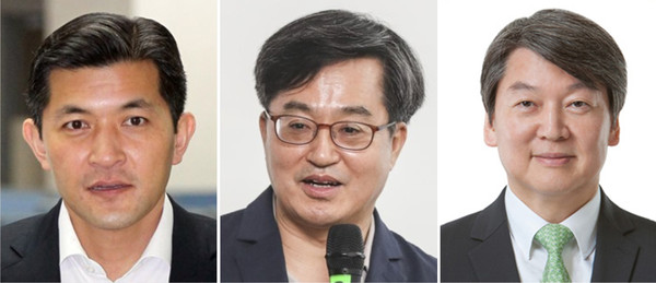 From left : Hong Jung-wook, Kim Dong-yeon, Ahn Chul-soo
