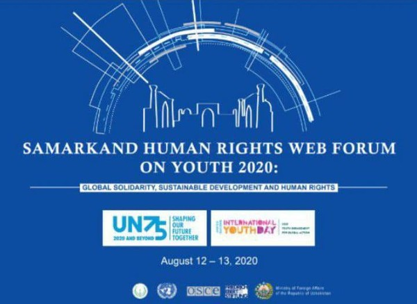 A poster on the Sarmarkand Human Rights Web Forum on Youth 2020