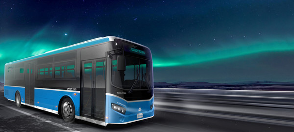 A zero-emission, high-performance Smart 11H electric bus of Edison Motors