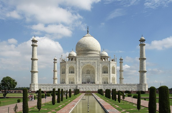 Taj Mahal, Agra. India has many historical, architectural masterpieces of the world.