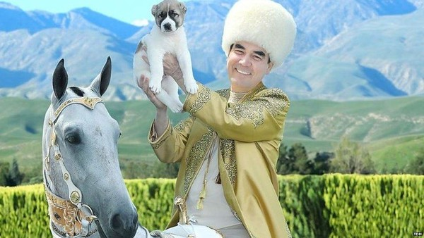 The Turkmen leader takes great pride of his country's breeds