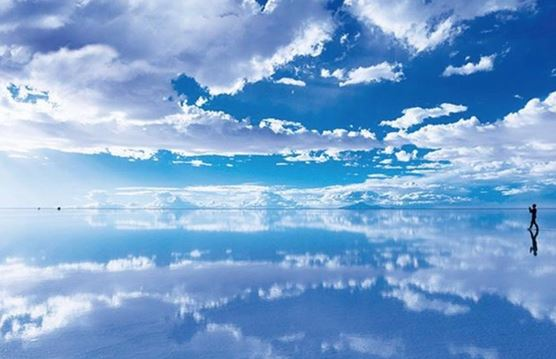 Uyuni Salt Flats, where earth and sky meet