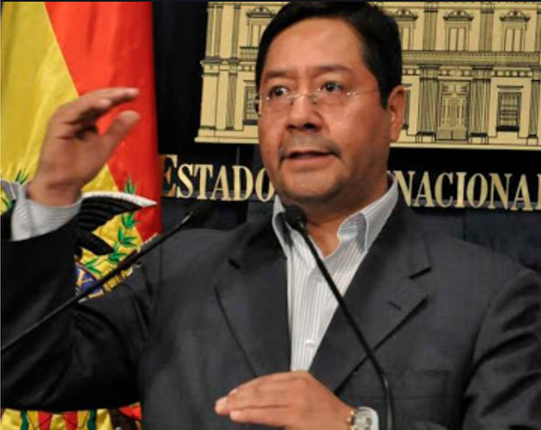 President Luis Arce of Bolivia speaks to the people of Bolivia