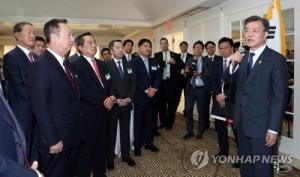 Moon to meet biz leaders this week