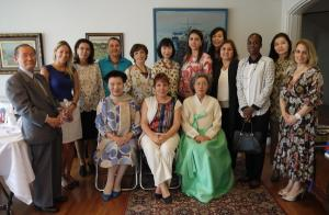 Mrs. Okcal hosts luncheon for spouses of ambassadors, noted Korean women leaders