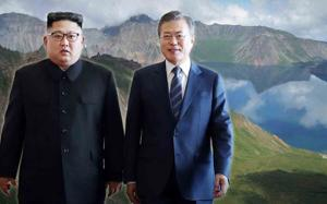 Moon, Kim head to Mount Paekdu in friendship event