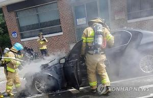 Two BMW diesel vehicles cars catch fire near Pyeongchang