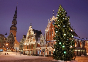 Riga, capital of Latvia-birthplace of Christmas tree tradition