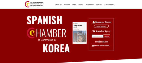 ESCCK's website. ESCCK was founded to strengthen the business environment between Spain and South Korea, improving the commercial and cultural relationship.