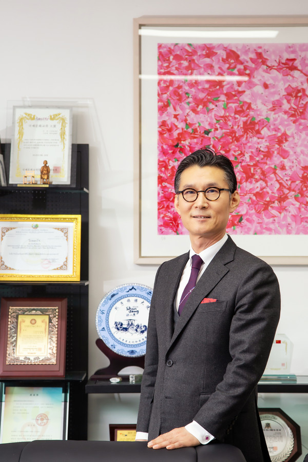 FACO Chairman Lee Bum-heon poses for the camera at his office in Seoul.